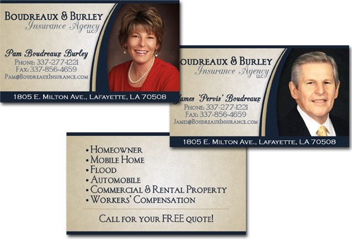 Boudreaux burley insurance agency business cards reheart Choice Image
