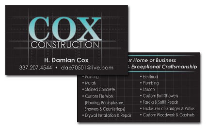 CoxConstructionBusinessCards